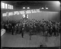 Crowd inside the new armory at E. 177th Street and Bathgate Avenue, Bronx, N.Y., October 25, 1902.