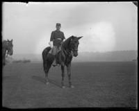 Captain Louis Wendel on horseback at the unveiling of the Josiah Porter Monument, Bronx, N.Y., November 15, 1902.