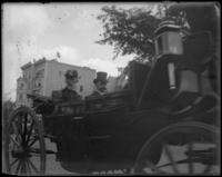 Admiral William T. Sampson & President Wood in an open-topped carriage, Dewey Land Parade, New York City, September 30, 1899.