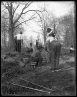 Workmen breaking rock, New York Zoological Gardens [the Bronx Zoo], Bronx, N.Y., May 2, 1899.