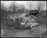 Icy waterfall, New York Zoological Gardens [the Bronx Zoo], Bronx, N.Y., 1899.