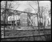 Animal house under construction, New York Zoological Gardens [the Bronx Zoo], Bronx, N.Y., 1899.