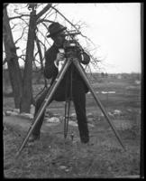 Surveyor at work, New York Zoological Gardens [the Bronx Zoo], Bronx, N.Y., 1899.