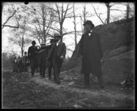 Officials inspecting the construction work, New York Zoological Gardens [the Bronx Zoo], Bronx, N.Y., 1899.