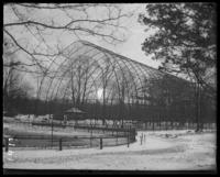 Aviary in winter, New York Zoological Gardens [the Bronx Zoo], Bronx, N.Y., 1899.