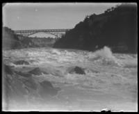 Bridge over the rapids, Niagara Falls, undated [c. 1899-1904].