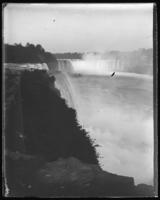 American and Horseshoe Falls from Goat Island, Niagara Falls, undated [c. 1899-1904].
