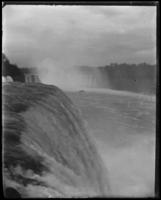 American Falls from the viewing platform, Niagara Falls, undated [c. 1899-1904].