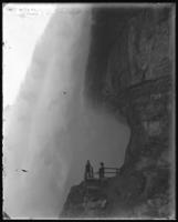 American Falls [Bridal Veil Falls?] from the Cave of the Winds, Niagara Falls, undated [c. 1899-1904].