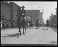 Col. Appleton riding in a Decoration Day parade on Fifth Avenue, New York City, 1899.