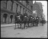 Brigadier-General McCloskey Butt and staff riding in a Decoration Day parade near 59th Street, New York City, 1900.