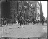 Colonel George Rathbone Dyer riding in a Decoration Day parade on Fifth Avenue, New York City, 1900.