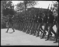 Company G of the 71st Regiment marching in a Decoration Day parade, Bronx, N.Y., 1902.