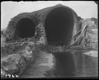 The brick conduits for the reservoir's water supply [New Croton Aqueduct?] during the construction of Jerome Park, Bronx, N.Y., undated [c. 1905-1906].