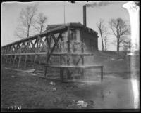 Trestle for running concrete during the construction of Jerome Park, Bronx, N.Y., undated [c. 1905-1906].