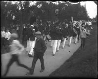 African American fife-and-drum corps, Sunday Schools parade in Claremont Park, Bronx, N.Y., June 6, 1903.