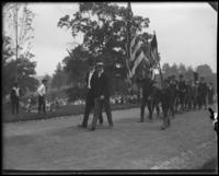 Boys in uniform, Sunday Schools parade in Claremont Park, Bronx, N.Y., June 6, 1903.
