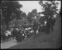 Photographer at the Sunday Schools parade in Claremont Park, Bronx, N.Y., June 6, 1903.