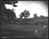 Crowds watching a baseball game, Crotona Park, Bronx, N.Y., undated [c. 1900].