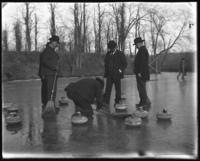 Curling on Van Cortlandt Lake, Van Cortlandt Park, Bronx, N.Y., February 1902.