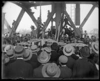 Ceremony for the opening of the Willis Avenue Bridge, New York City, 1901.