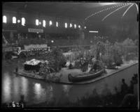 Ojibway village at the National Sportsmen's Show, Madison Square Garden, New York City, March 15, 1902.