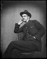 Casual portrait of an unidentified man, Bronx, N.Y., undated [c. 1897-1917].