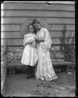 Daisy in a kimono with Grace Stonebridge, Bronx, N.Y., undated [c. 1905-1910].