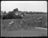 Adjutant Harry Hayden Treadwell shooting, Creedmoor Rifle Range, Queens Village, Queens, N.Y., 1899.
