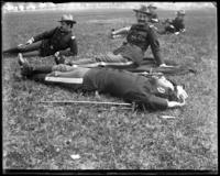 Captain Frederick Charles Ringer (22nd Regiment) asleep, Creedmoor Rifle Range, Queens Village, Queens, N.Y., 1900.