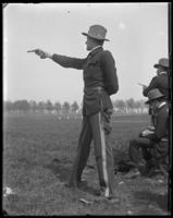 Captain William Jay Schiefflin (12th Regiment) at pistol practice, Creedmoor Rifle Range, Queens Village, Queens, N.Y., 1900.