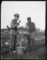 Unidentified officer of the 7th Regiment drinking water, Creedmoor Rifle Range, Queens Village, Queens, N.Y., May 11, 1901.