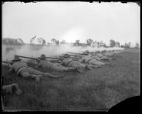 7th Regiment Company D firing, Creedmoor Rifle Range, Queens Village, Queens, N.Y., May 11, 1901.