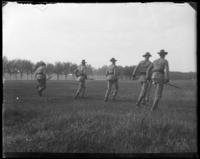 7th Regiment Company F running, Creedmoor Rifle Range, Queens Village, Queens, N.Y., May 11, 1901.