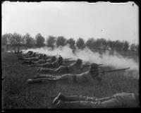 7th Regiment Company F firing, Creedmoor Rifle Range, Queens Village, Queens, N.Y., May 11, 1901.