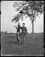 71st Regiment Adjutant waving his hat, Creedmoor Rifle Range, Queens Village, Queens, N.Y., May 24, 1902.