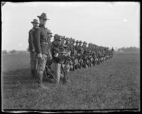 71st Regiment Company D, being photographed, Creedmoor Rifle Range, Queens Village, Queens, N.Y., May 24, 1902.