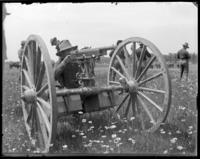 Capt. Rasquin firing a 3rd Battery gun, Creedmoor Rifle Range, Queens Village, Queens, N.Y., June 28, 1902.