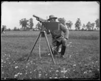 Capt. Rasquin sighting a 3rd Battery Colt automatic rifle, Creedmoor Rifle Range, Queens Village, Queens, N.Y., June 28, 1902.