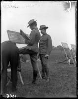 9th Regiment score keepers, Creedmoor Rifle Range, Queens Village, Queens, N.Y., August 13, 1904.