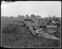 9th Regiment guardsmen firing from the ground, Creedmoor Rifle Range, Queens Village, Queens, N.Y., August 13, 1904.