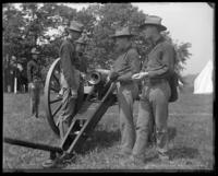 A First Battery gun crew with the breech open, State Camp (Camp Smith), Peekskill, N.Y., June 1, 1901.