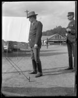 Captain Louis Wendel of the First Battery, State Camp (Camp Smith), Peekskill, N.Y., June 8, 1901.