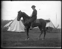 Colonel Nathaniel Blunt Thurston on horseback, State Camp (Camp Smith), Peekskill, N.Y., June 13, 1903.