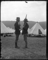 47th Regiment sentry being relieved, State Camp (Camp Smith), Peekskill, N.Y., June 16, 1904.