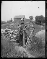 Carrie [Mrs. George E. Stonebridge] at the rustic gate, Garrison, N.Y., 1902.