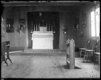 Altar of an unidentified friary, Garrison, N.Y., 1902.
