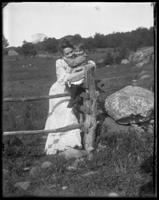 Daisy and Giles at the gate, Garrison, N.Y., 1903.
