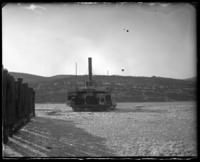 Ferry boat on the Hudson River, Garrison, N.Y., March 18, 1906.