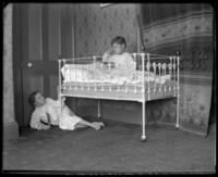 Bedtime, Grace and Willie Stonebridge waking and hiding,  Bronx, N.Y., undated [c. 1900?].